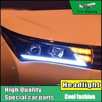 Car Styling Head Lamp For Toyota Corolla Headlights 2014 2016 Corolla LED Headlight DRL Double Beam