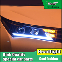 Car Styling Head Lamp For Toyota Corolla Headlights 2014 2016 Corolla LED Headlight DRL Double Beam
