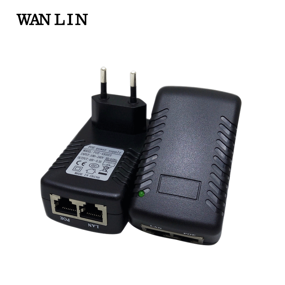 WANLIN PoE Injector DC 48V 0 5A Power over Ethernet IEEE802 3af at Power Adapter for