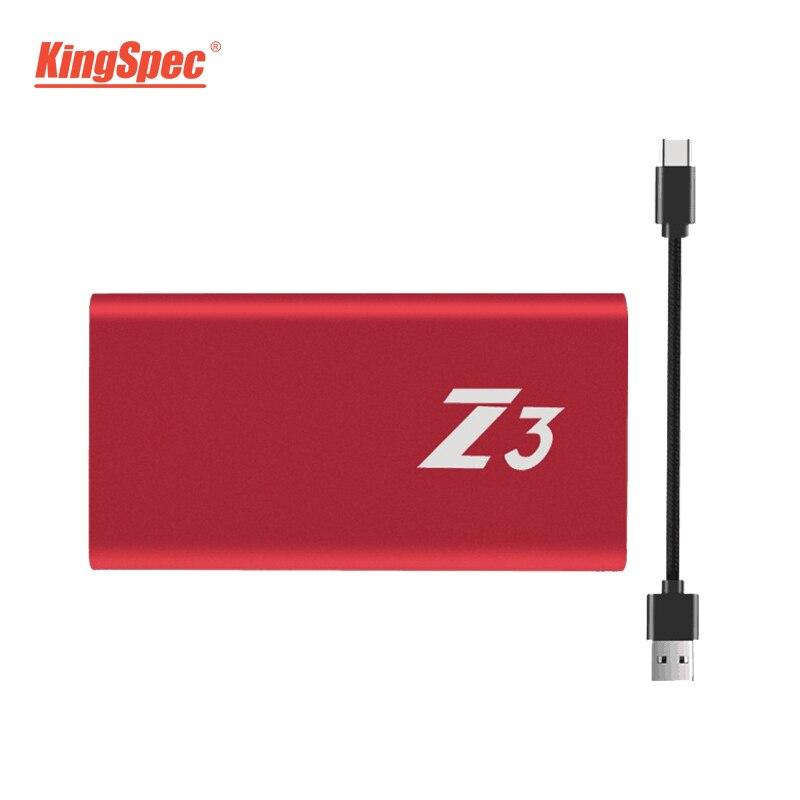 Z3-XXX KingSpec External Portable SSD Hard Drive 64GB 128GB 256GB 512GB 1TB USB 3.1 Type-c Solid State Disk USB 3.0 High Speed цена