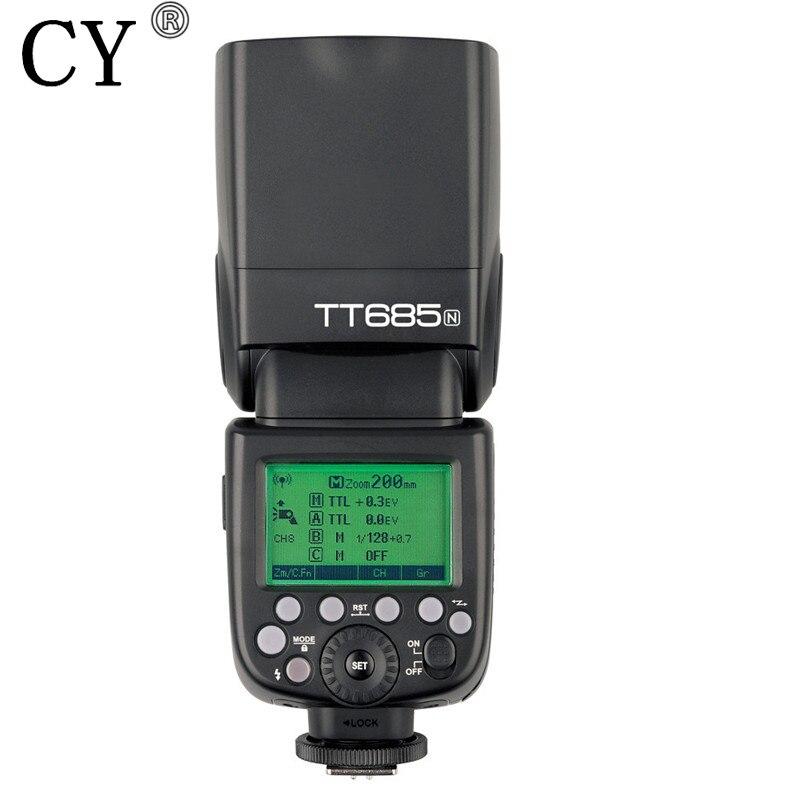 GodoxTT685N High Speed Flash Light Speed 2.4G HSS 1/8000s i-TTL for Nikon D800 D700 D7100 D7000 D5200 D5100 D5000 D70S D810