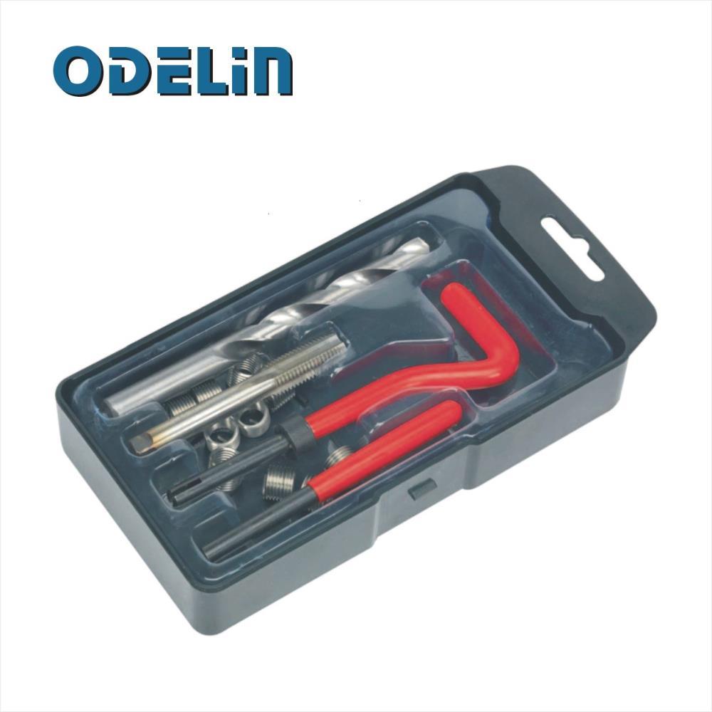 25pcs Thread Insert Installation Kit Recoil Repair Tool Drill Tap M8 X 1.25