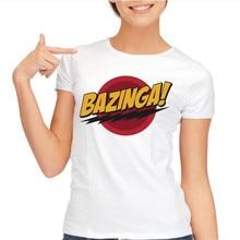 The Big Bang Theory tops tees Bazinga fashion brand clothes movie TV designed t shirt women Flash summer short sleeves T-shirt