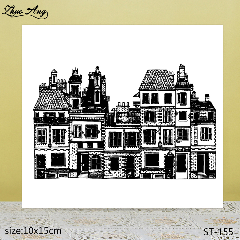 ZhuoAng  Good-looking church transparent silicone stamp / DIY scrapbook photo album decorative seal
