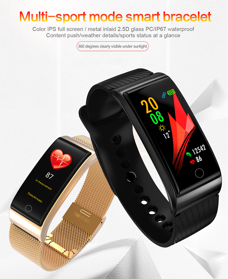 Foto from the front Smart waterproof watch with pedometer. Smart waterproof watch with heart rate monitor