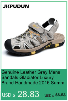 Summer Men Sandals Gladiator Genuine Leather Fashion