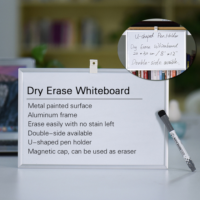 Memo Whiteboard Dry Erase Magnetic Drawing Writing Board with Pen ...