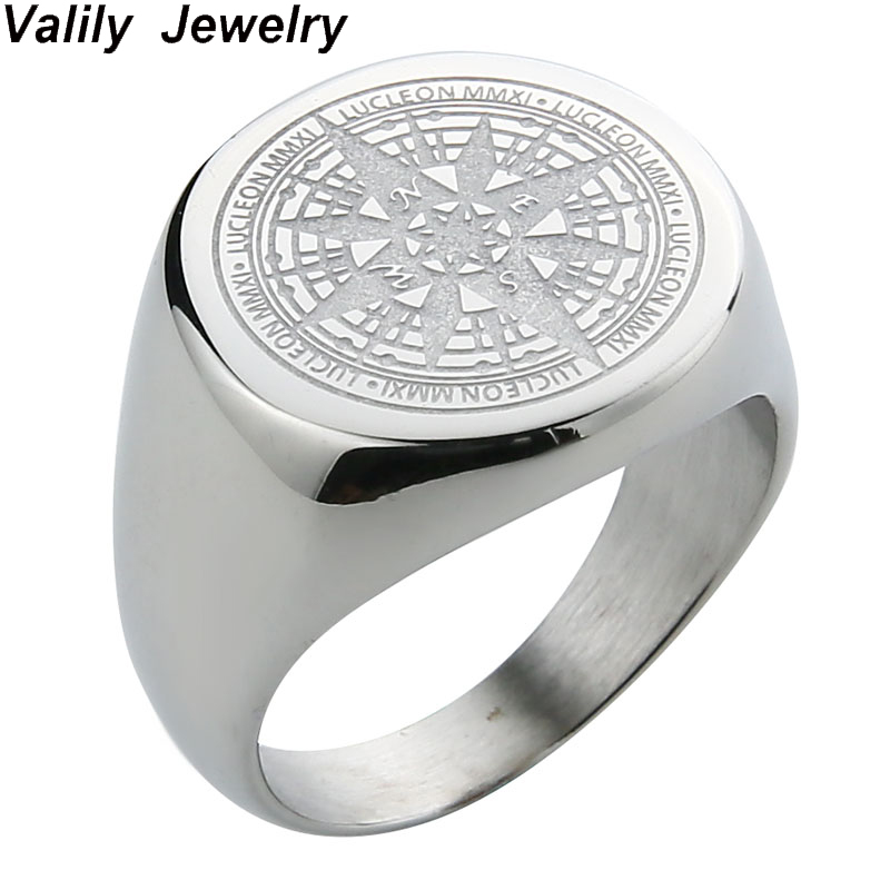 Men/'s Gift Stainless Steel Biker Rings with Crystal 7mm Wide Band Punk Pop Style