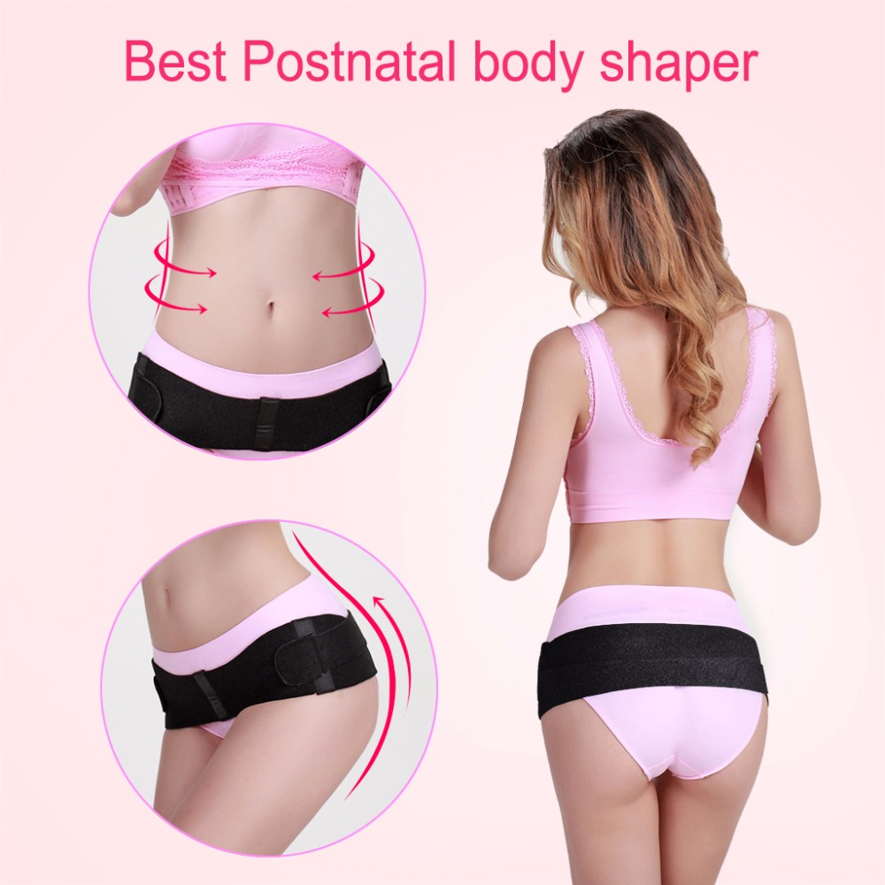 Woman Postpartum Hip Recovery Belt Black Sacroiliac Pelvic Support Stretchable Breathable Tighten Belt Shaper Beauty Shaping