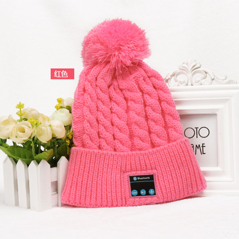 Bluetooth Cap Winter Knit Beanie Hat with Bluetooth Stereo Speakers with Mic Wireless Music Headset for Sports Free Shipping free shipping fashion cool striped wireless bluetooth music knit hat with handsfree smart cap headset top quality