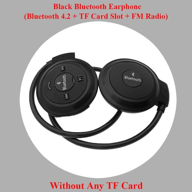 HOMEBARL 3D Mini 503 Mini503 Bluetooth 4.2 FM Headset Sport Wireless Headphones Music Stereo Earphones + 8GB 16GB Micro SD Card