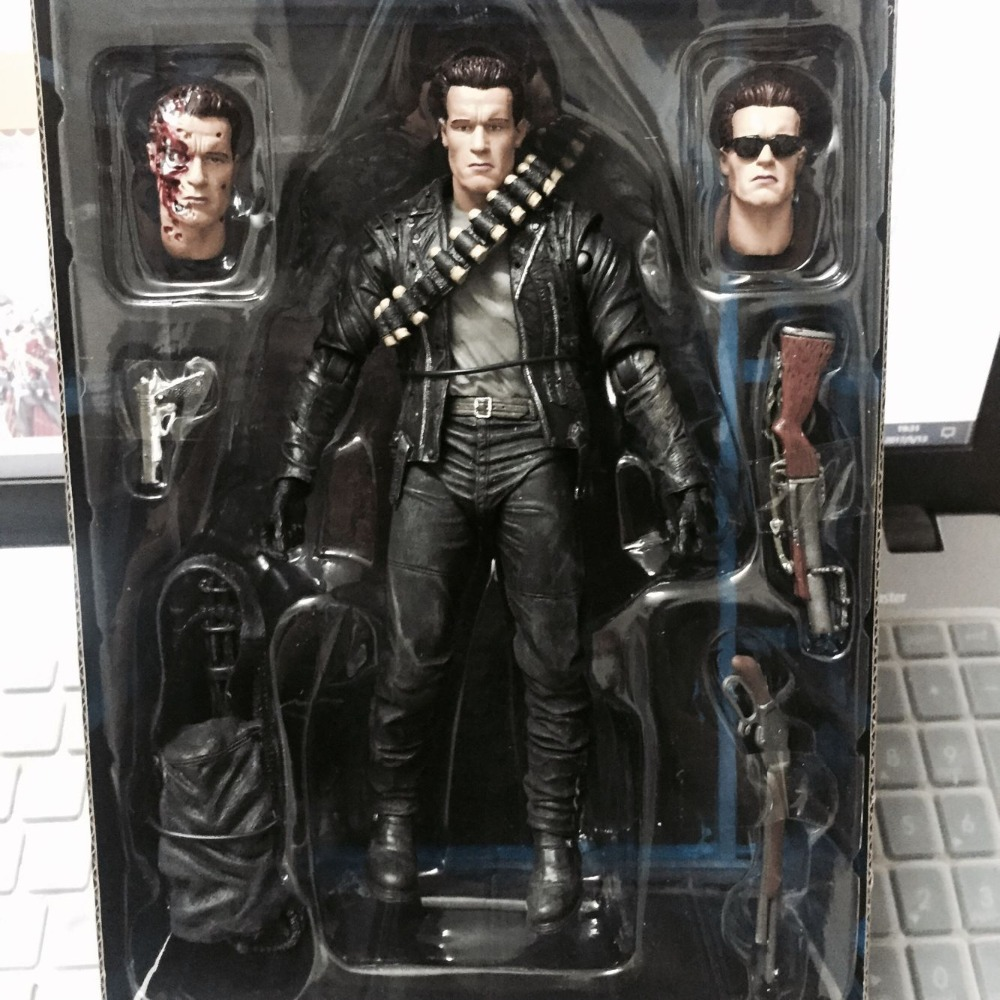 Terminator 2: Judgment Day T-800 Arnold Schwarzenegger PVC Action Figure Collectible Model Toy 7 18cm neca the terminator 2 action figure t 800 endoskeleton classic figure toy 718cm 7styles