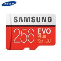 SAMSUNG Memory Card Micro SD 256GB SDXC Grade EVO+ Class 10 C10 UHS TF Cards Trans Flash Microsd New