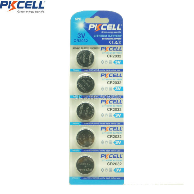 20Pcs/4Pack PKCELL CR2032 DL2032 CR DL 2032 BR2032  3V Button Cell Battery Watch batteries