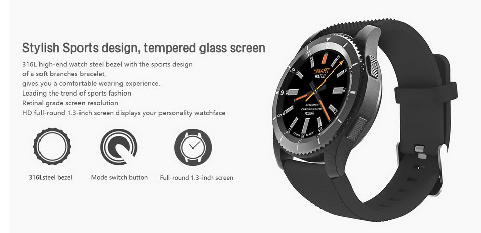 2017 NEW No.1 G8 Smartwatchs Bluetooth 4.0 SIM Card Call Message Reminder Heart Rate Monitor Smart watchs For Android Apple   (3)