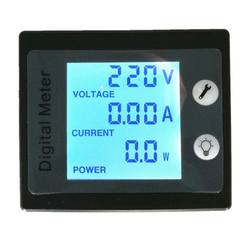 PZEM-001 AC Multi-function Digital Meter Power Energy Voltage Current Tester Volt Amp W KWh Monitor from PEACEFAIR