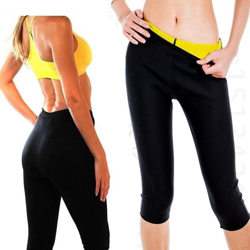 super stretch neoprene fitness slimming pants waist ...