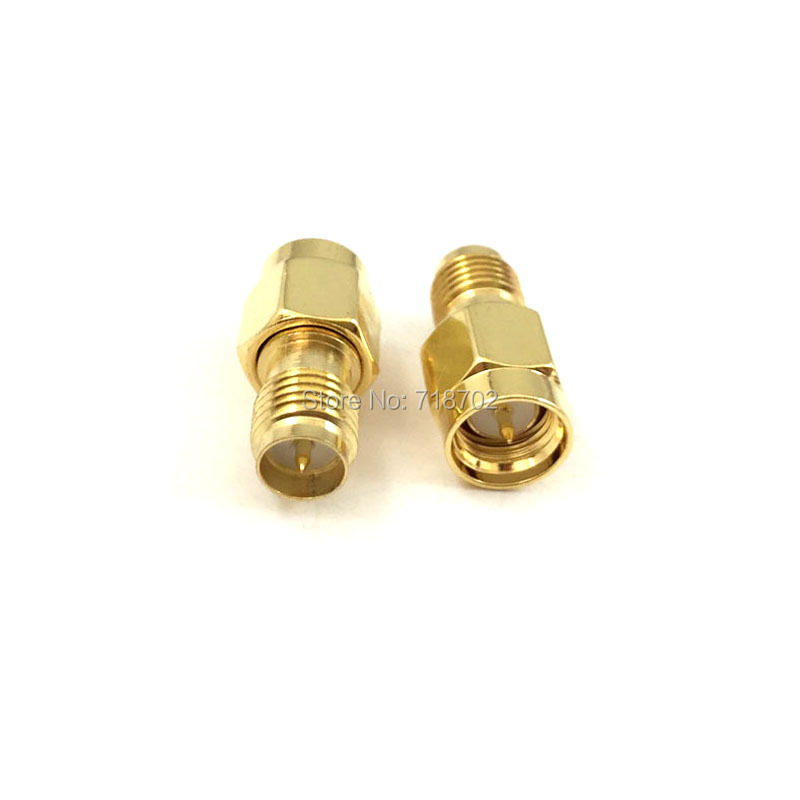 1pc SMA Male Plug to RP Sma Female Jack RF Coax Adapter Convertor Straight Goldplated 2pcs lot yt70b rp sma male plug switch sma female jack rf coax adapter convertor connector straight goldplated sell at a loss