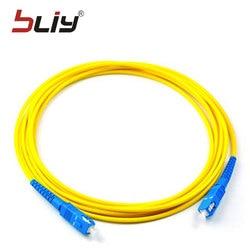 Free shipping 10pcs/bag SC-SC Optical Fiber Jumper SM SX 3mm 3M 9/125um 3 Meters SC/UPC Fiber Optic Patch Cord in Stock