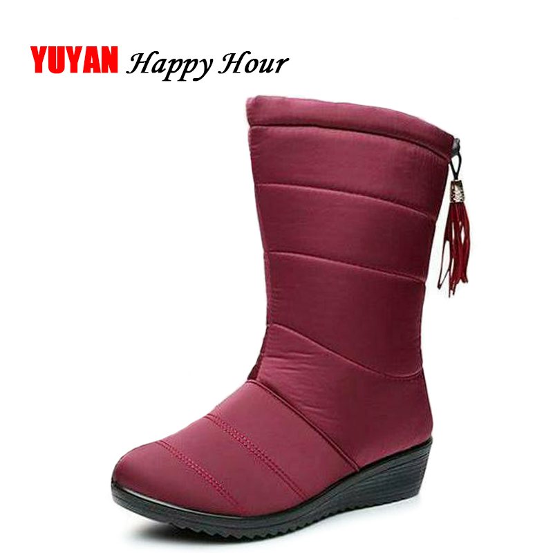 New 2019 Winter Shoes Women Snow Boots Waterproof Cloth Warm Plush for Cold Winter Womens Boots Ladies Brand Wedge Shoes ZH2375New 2019 Winter Shoes Women Snow Boots Waterproof Cloth Warm Plush for Cold Winter Womens Boots Ladies Brand Wedge Shoes ZH2375