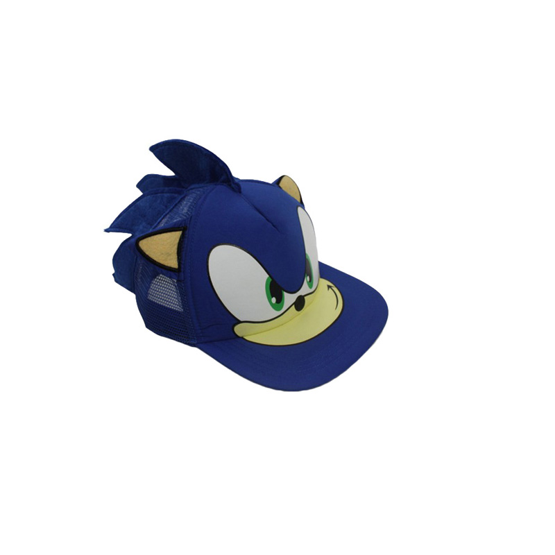 25*16cm Sonic Cosplay Cap Baseball Hat Cartoon Anime Plush Cap Cool Birthday Gift For Children Free Shipping cute cartoon figure pattern color block baseball cap for men and women