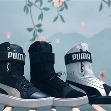 Original Puma Platform Womens Boots Lace Up Trainers Leather Women s  Sneakers Bow Badminton Shoes Size35. abc30bee5