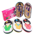 4 Pcs/Set Manicure Nail Care Tools Clippers Scissors Kits Stainless Steel Cute Japanese Doll