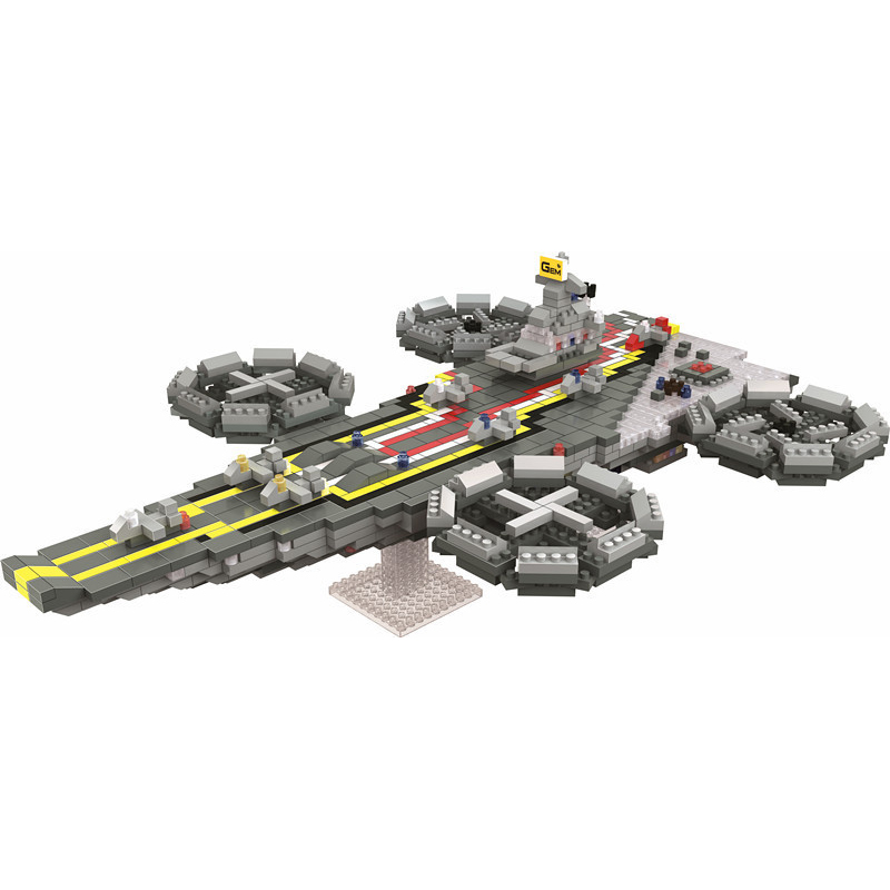 DIY 3D Cool Spaceship Outer Space Series Micro Building Nanoblocks Toy Both For Kids And Adults Mini Funny Educational Blocks neje yw0007 2 diy puzzle toy space sand air magic clay plasticine sand for kids pink 0 5kg