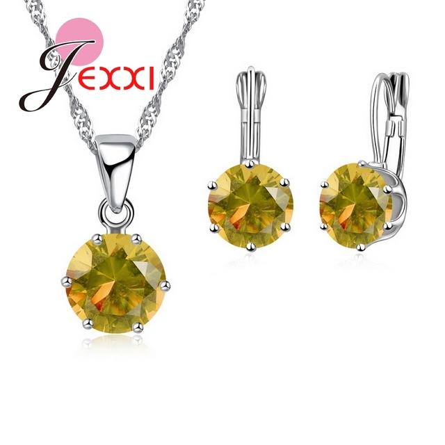 JEXXI Luxury 925 Sterling Silver Cubic Zirconia Jewelry Set