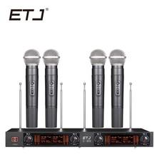 ETJ Marca Profissional VHF Microfone Bodypack Handheld Microfone Headset Microfone De Lapela U-409 Mutável