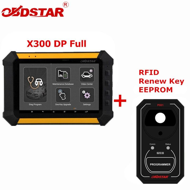 где купить OBDSTAR X300 DP X300DP PAD Tablet Key Programmer Full Configuration Auto Diagnostic Program Tool X300 DP Plus P001 Programmer по лучшей цене