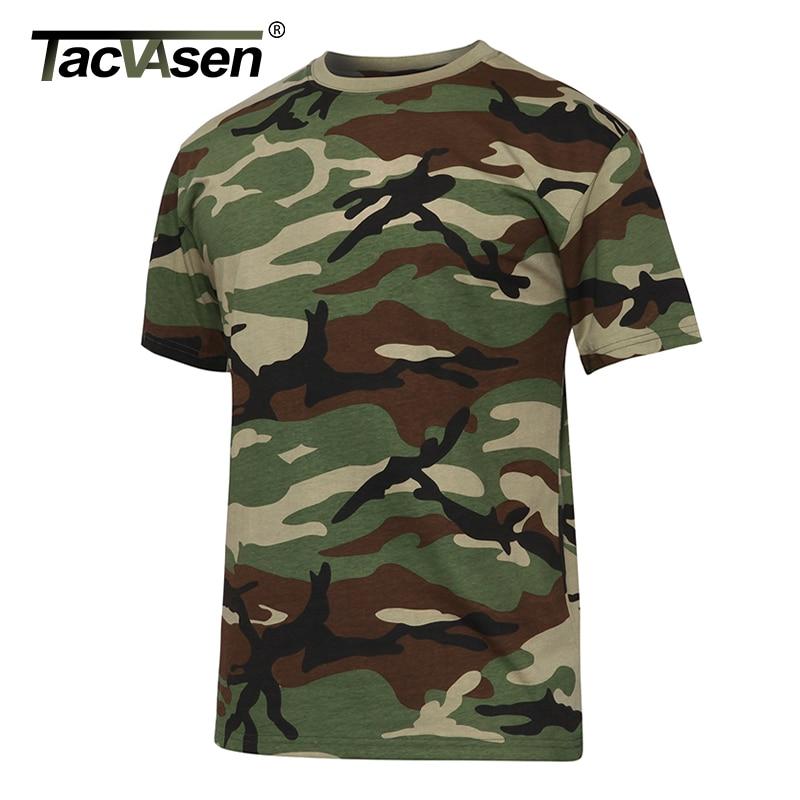TACVASEN Men's Summer Tactical Shirt New O-neck Short Sleeves