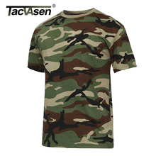 TACVASEN Men's Summer Tactical Shirt New O-neck Short Sleeve Cotton T Shirt Men Casual T Shirt Camouflage Army Military T-shirts(China)