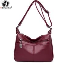 Casual Crossbody Bags for Women Brand Leather Women Bag Over Shoulder Designer Simple Messenger Bag Sac A Main Bolso Mujer 2019
