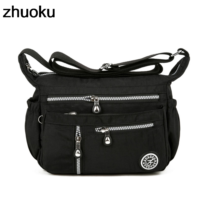 New Women Messenger Bags For Women Waterproof Nylon Handbag Female Shoulder Bag Ladies Crossbody Bags Bolsa Sac A Main Femme De 2017 new vintage black women shoulder bags chain bag plaid trunk women handbag sac a main femme de marque nouvelle collection