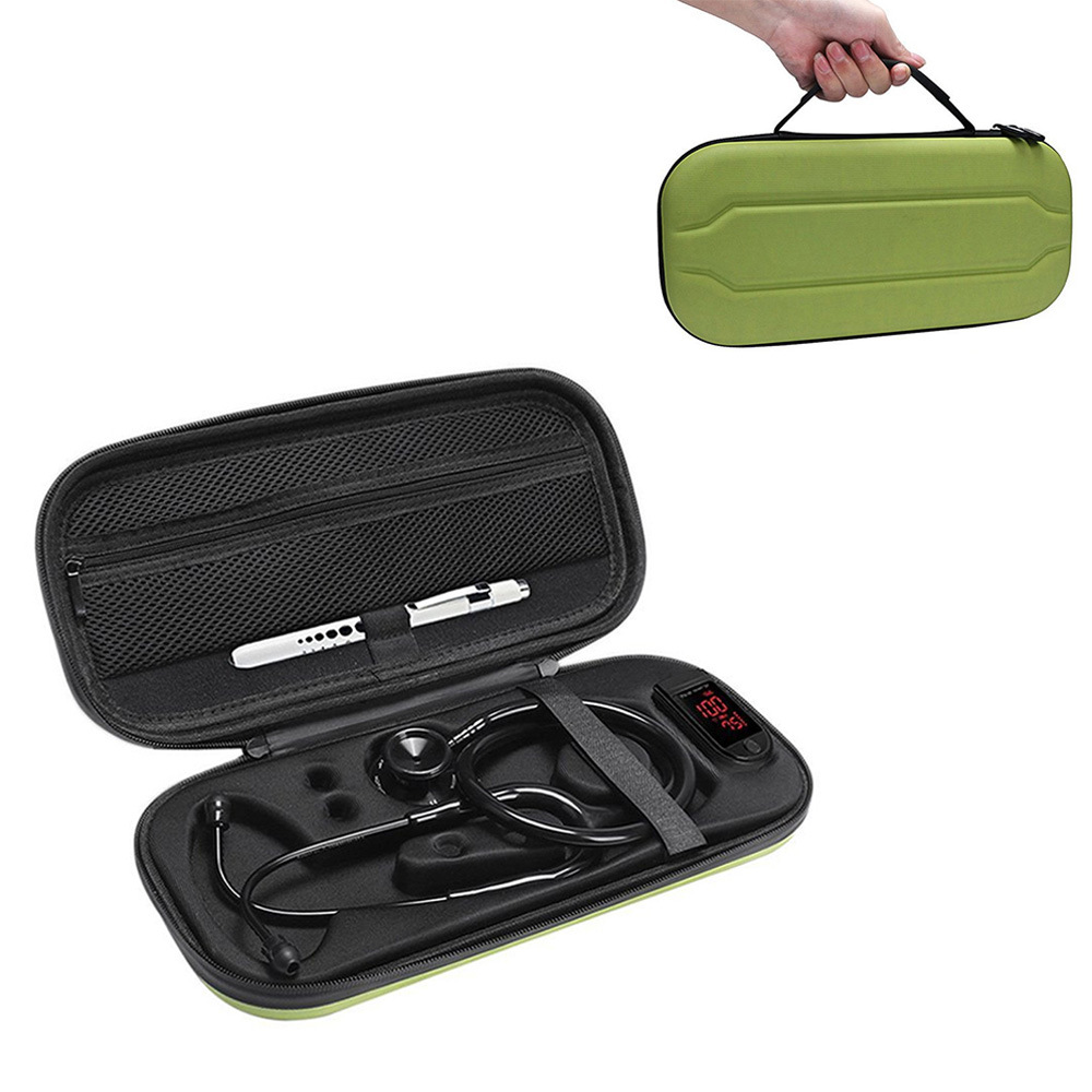Hard Carrying Bag Case For 3M Littmann Classic III / MDF / ADC / Omron Stethoscope ,Mesh Pocket For Acceeories