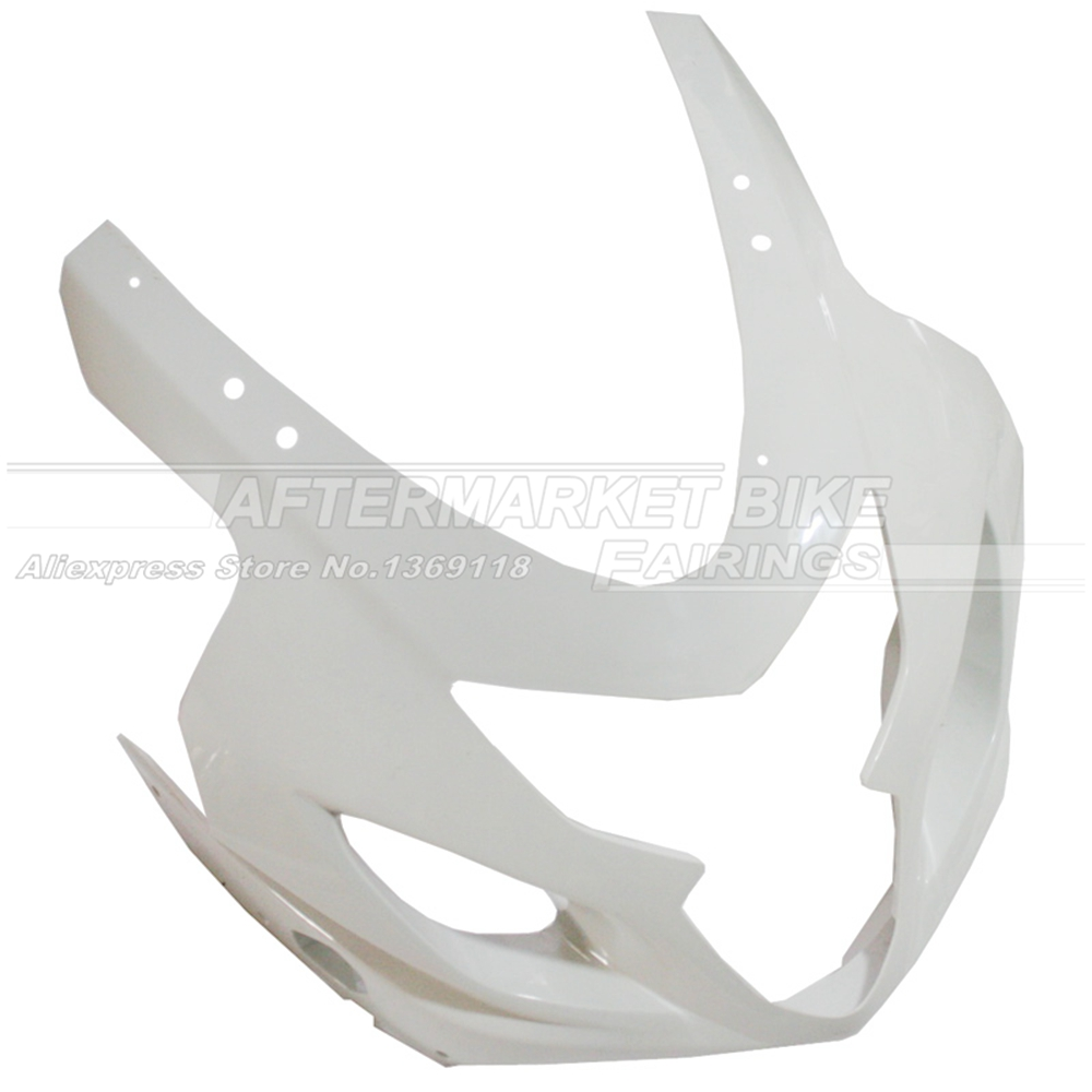 100% Virgin ABS Plastic Front Fairing Head For SUZUKI GSXR 600 / 750 2004 2005 K4 Upper Fairing Nose Cowling NEW front upper fairing cowling headlight headlamp stay bracket holder for 2004 2005 suzuki gsxr600 gsxr750 gsxr gsx r 600 750 k4 k5