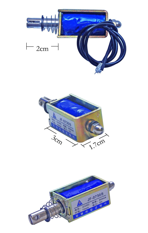 Dc12v o 24 V 0.3a tipo empuje Open Marcos electroválvula lineal ...
