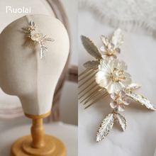 Элегантная Свадебная расческа для волос ruolai с кристаллами