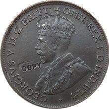 Реплика 1911-1923 13 монеты Австралия One полпенни копия монет Копер