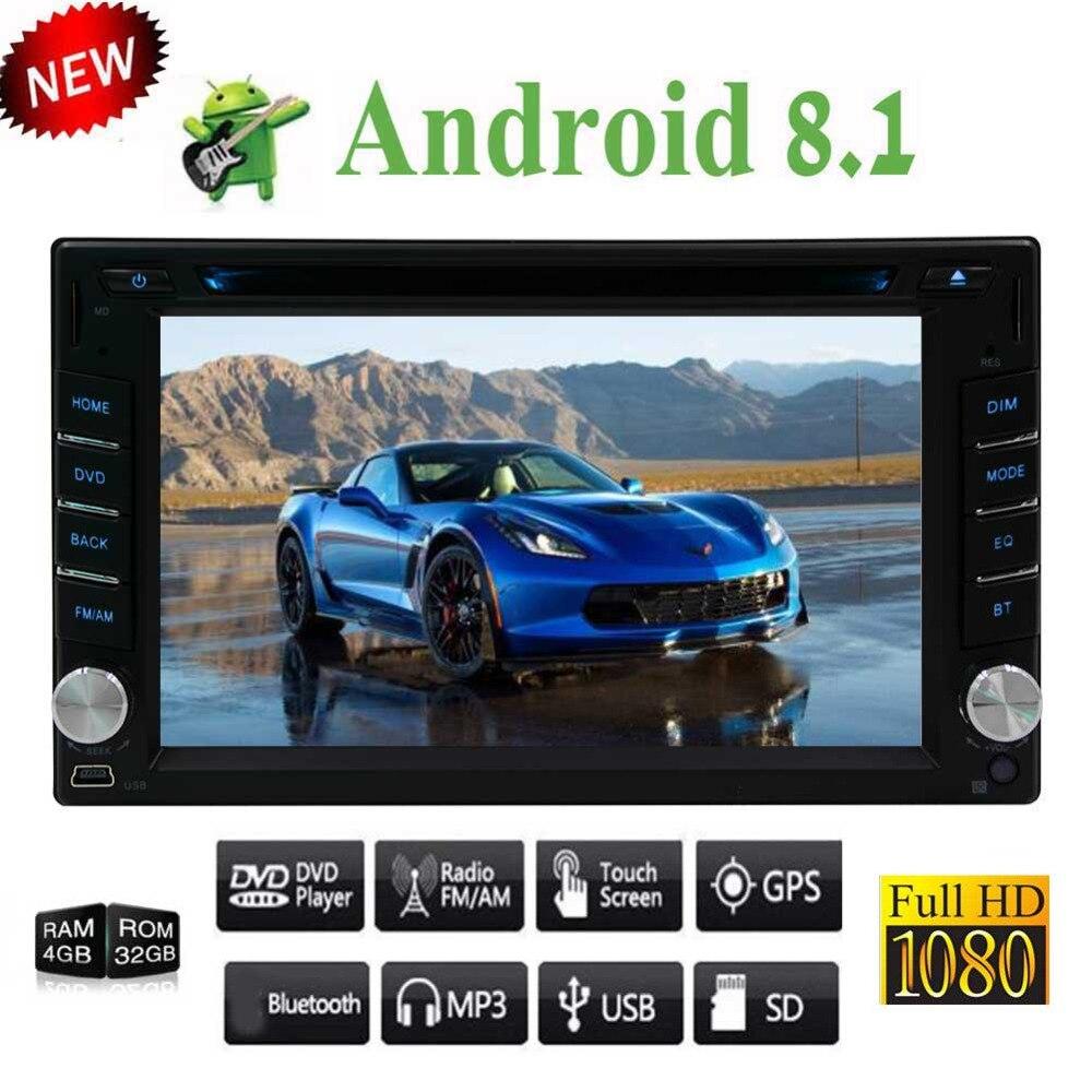 Android Auto, caméra de sauvegarde, USB SD, écran tactile 6.2 pouces, lecteur CD DVD Android 8.1 lecteur multimédia DVD stéréo voiture-EinCar