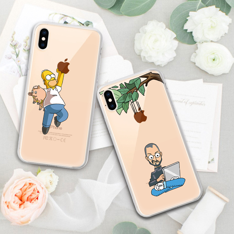 Soft Silicone TPU Cool Pattern Phone Shell For iPhone Models 7