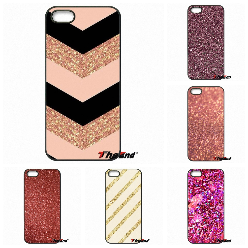 For Motorola Moto E E2 E3 G G2 G3 G4 PLUS X2 Play Style Blackberry Q10 Z10 Rose gold glitter sparkles Pastel Hard Phone Cover