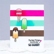 YaMinSanNiO Sweet Ice Cream Dies Candy Metal Cutting and Stamps DIY Scrapbooking Card Stencil Paper Craft Album Decor