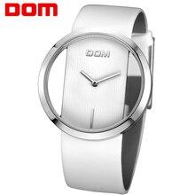 DOM marque squelette Montre Femmes de luxe De Mode Casual montres à quartz en cuir Lady femmes montres Fille Robe LP-205-7M