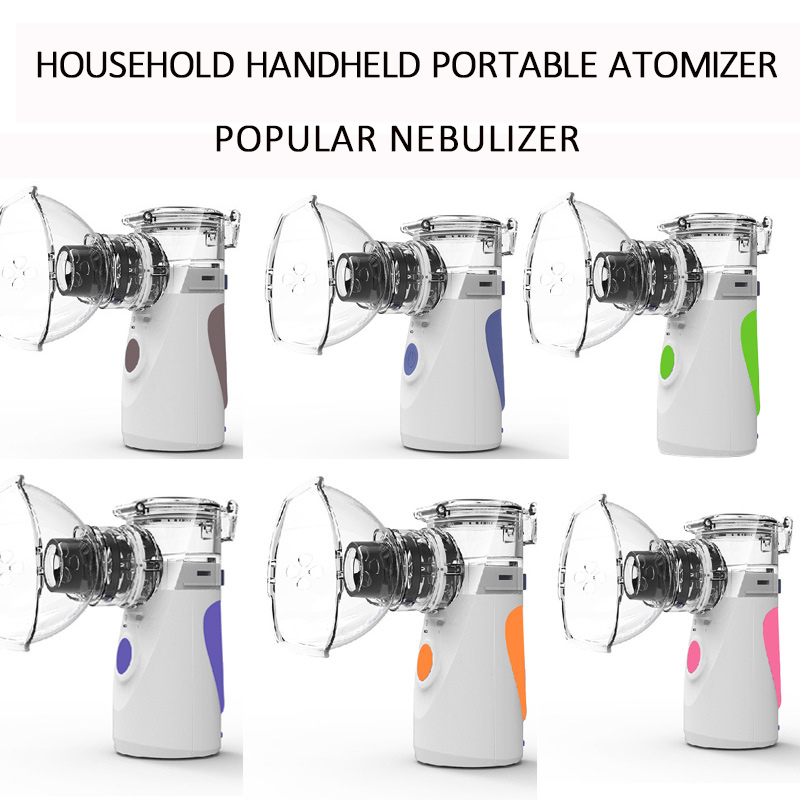 Pr mise Mini Handheld Portable Nebulizer Rechargeable USB Cold Mist Inhaler Kit For Adult Children multiple colors in Steaming Devices from Beauty Health