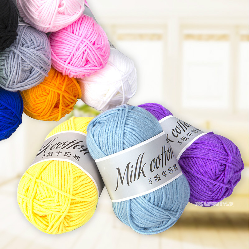 Hot sale 3mm cotton knitted wool yarn baby cashmere thread crochet thread in the knitting line