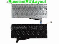 RU Russian Laptop Keyboard For APPLE Macbook Pro A1286 BLACK For 2008 For Backlit New Replacement