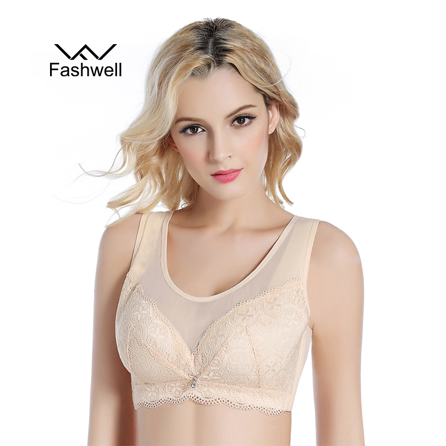 New sexy push up thin cup Bra full coverage Women Bras with Mesh wire free Plus Size Intimates Underwear