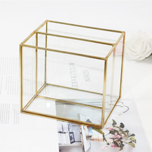 Clear Glass Makeup Organizer Cosmetic Storage Box Makeup Powder Box Desktop Women Lipstick Holder Makeup Brushes Organizer